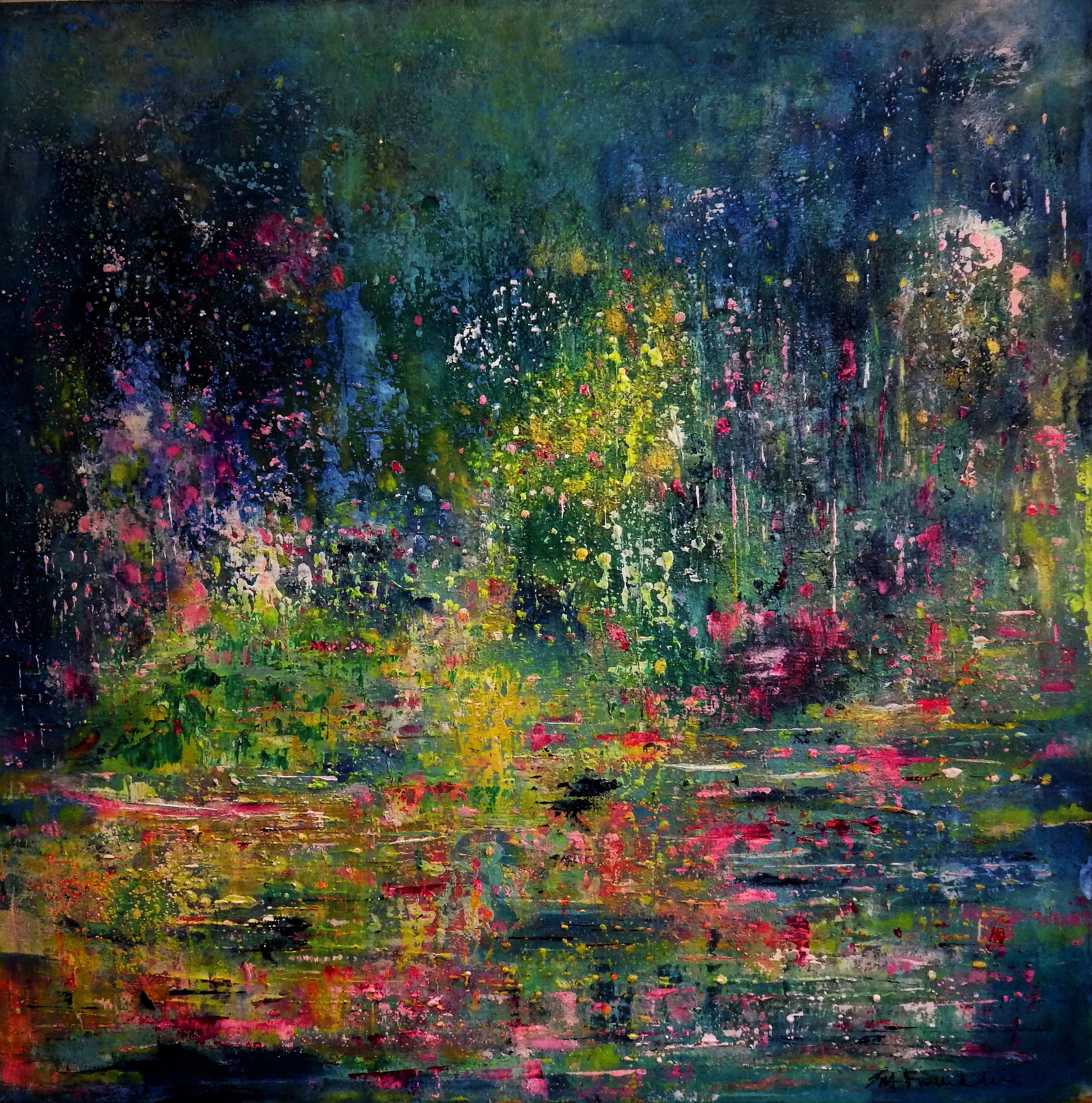 The Night Garden 90x90cms Acrylic on canvas