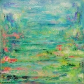 Summer Pond 90x90cms on canvas SOLD