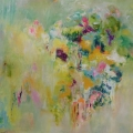 Garden Flowers 90x90cms on canvas SOLD